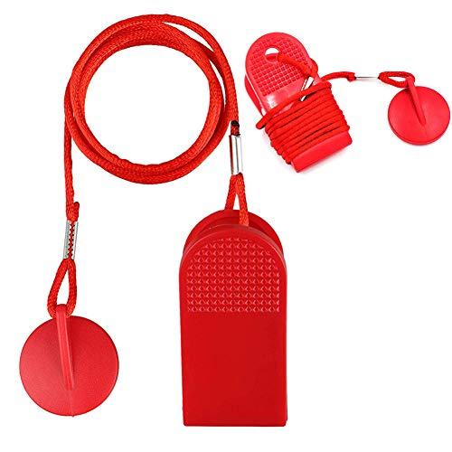 ELDETU Lot de 2 clés de sécurité magnétiques universelles pour machine de course NordicTrack, Proform, Image, Weslo, Reebok, Epic, Golds Gym, Freemotion