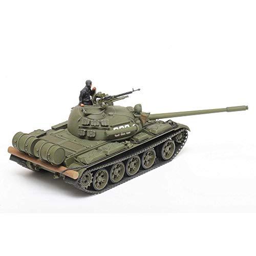 TAMIYA 32598 1:48 Russischer Mit. KPz T-55, originalgetreue Nachbildung, Modellbau, Plastik Bausatz, Basteln, Hobby, Kleben, Modellbausatz, Zusammenbauen, unlackiert