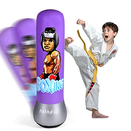 AirMyFun Inflatable Boxing Toy for Kids amp Adults Punching Bag for Entertaining Cartoon Character Theme Boxing Bag