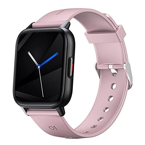 BATQER Smartwatch, Reloj Inteligente con Podómetro Deportivo Totalmente Táctil De 1,69 Pulgadas, Oxígeno En Sangre, Presión Arterial, Frecuencia Cardíaca, Medición De Temperatura,Rosado