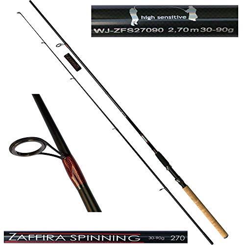 Jaxon Angelrute Zaffira Spinning 2,70m Steckrute Spinnangel Spinnrute WG 30-90g