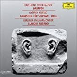 Stockhausen: Gruppen, Kurtag: Grabsteinfur Fur Stephan, Stelle, Claudio Abbado Import Edition by Stockhausen, Kurtag (1996) Audio CD