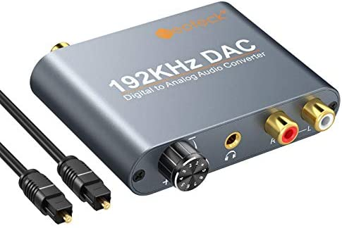 Neoteck 192kHz Digital to Analog Audio Converter with Volume Control Optical Coaxial Toslink product image