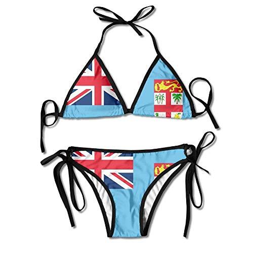 Traje De Baño Bandera De Las Islas Fiji, Cómodos Y Únicos, Trajes De Baño, Piscina, Mujeres, Trajes De Baño, Traje De Baño, Hawaii, Divertido, Conjunto De Bikini De 2 Piezas, Hermo