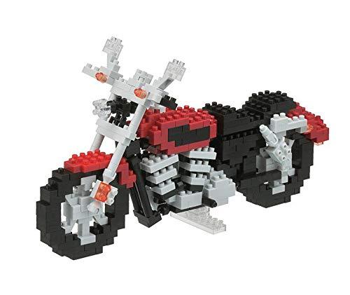 nanoblock NBM-006 -Motorcycle / Motorrad, Minibaustein 3D-Puzzle, Middle Serie, 420 Teile, Schwierigkeitsstufe 5, für Experten
