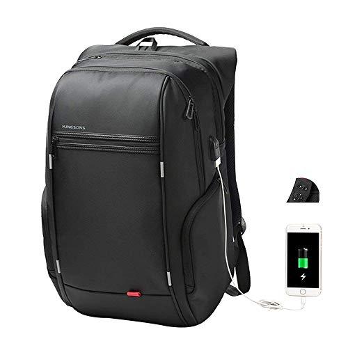 Kingsons Business Laptop-Rucksack, Anti Diebstahl Wasserdicht Notebook-Tasche mit USB Ladefunktion, Backpack/Schulrucksack/Daypack für Männer und Damen (17 Zoll B)