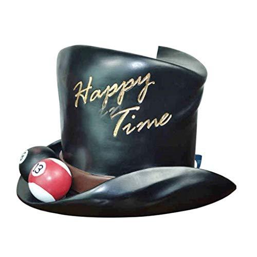 Yyqx Caja de pañuelos Creativo European Tissue Box Sala Hogar Resina Billar Sombrero del sostenedor del Tejido del Tejido del Tubo del Tubo del Rollo de Papel Portapañuelos de Papel