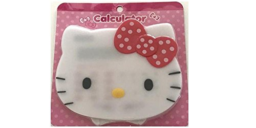 White Hello Kitty Calculator Solar powered with cover