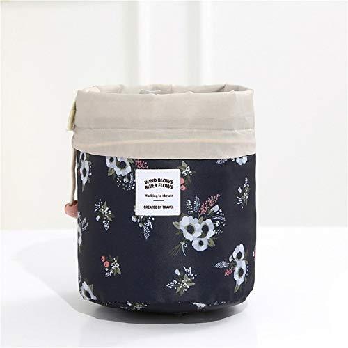 PoplarSun Sac cosmétique Voyage Femmes Maquillage Sacs de Toilette Organisateur Waterproof Femme Stockage Maquillage Sac (Color : Black White Flower)