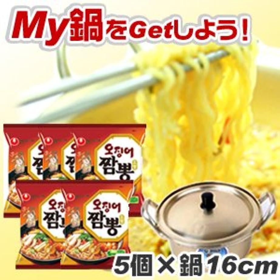 二次不可能な平方イカチャンポン【5個SET+洋銀黄鍋(約16cm)1個】