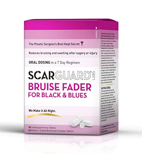 Scarguard Bruise Fader | Oral Regimen for Bruising from Injury & Surgery | Naturopathic & Homeopathic Ingredients | 0.5 fl oz