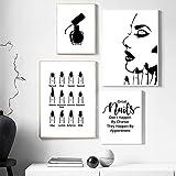 UñAs TecnologíA Artista Regalo Moda Poster UñAs Polaco Arte Cuadro UñAs SalóN Citas Maquillaje Pared Arte Lienzo Pintura UñAs Belleza Hogar Pared Decoracion No Marco