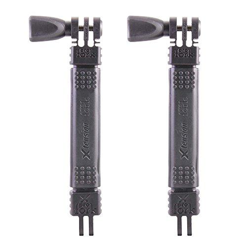 iSHOXS Xtension Neo M, Set aus 2x 15cm Erweiterung mit einem stabilem, aber biegbaren Aluminiumkern in einer widerstandsfähigen TPU-Umantelung, passend für GoPro und kompatible Sport- und Action-Kameras