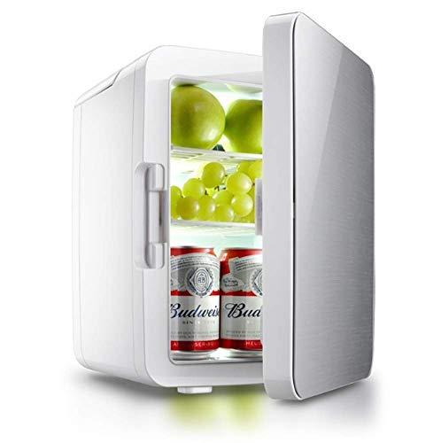 ZHTY 10L tragbare Gefriertruhe Autokühlschränke Spiegeltür Erdbebenbeständigkeit Absturzsicherung Doppelte abnehmbare Platte 110V oder 220V / 12V Autozubehör Kühlschränke