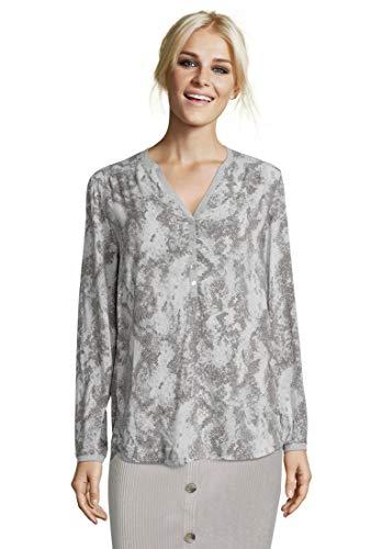 Cartoon Damen 8457/7804 Bluse, Grau (Grey/White 9811), (Herstellergröße: 40)