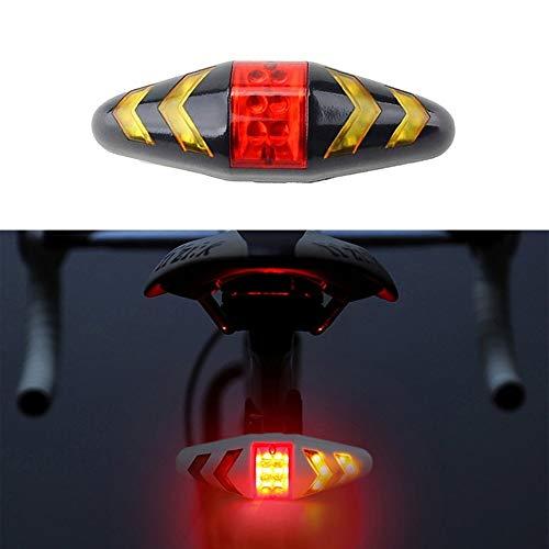 Yanmeng Bicicleta Traslight Intelligent Wireless Control Señal de Giro Bike Freno Trasero Luz de Freno Trasero con Correa de Soporte de Montaje, Modelos de batería (Negro) Yanmeng (Color : Black)