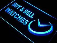 LED看板 ネオンプレート サイン 電飾・店舗看板・標識・サイン カフェ バー ADV PRO j432-b Watches Buy & Sell Shop Time Neon Light Sign