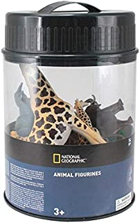 Wenno USA National Geographic Bucket of Safari Animals Figurines, 14 Pieces
