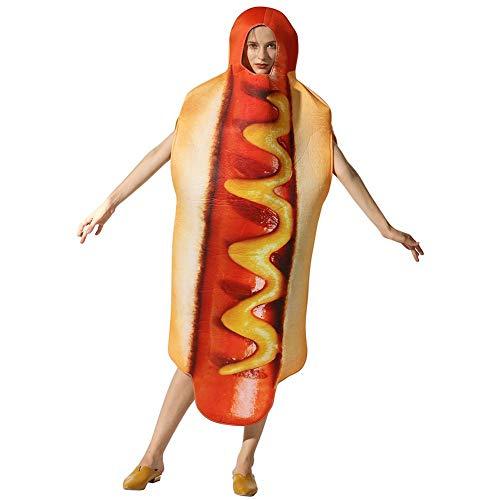 Disfraz de perrito caliente Ropa de perrito caliente de Halloween para hombres Accesorios de cosplay Juguetes divertidos Juegos Disfraces Disfraces para adultos para Halloween Escenario navideño