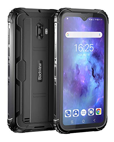 Unlocked Rugged Smartphones, Blackview BV5900 4G LTE Rugged Cell Phones with Android 10 IP68 Waterproof Drop Proof, 5.7' Screen 3GB+32GB Dual SIM 5580mAh Battery for GSM AT&T T-Mobile, Black