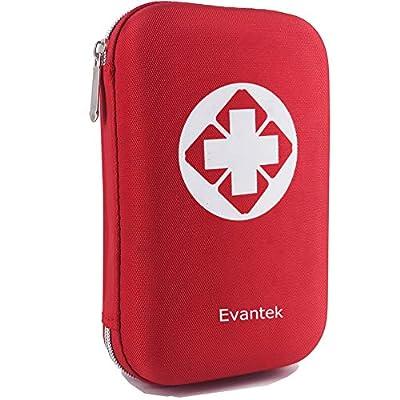 EVANTEK First Aid Kit Medical Med - 155 Pcs Kit Waterproof Emergency Kit for Camping Hiking Home Outdoor Truck Vehicle Car Fishing Travel Biking (RED)
