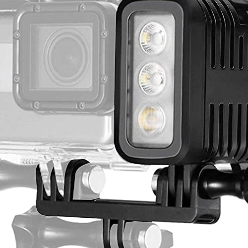Yuyanshop Luz de video subacuática, 98 pies (30 m) Luz de buceo 3 brillo regulable impermeable LED Video relleno noche luz para GOPRO Hero 4/3+/3/2/1/sj4000/sj5000/sj6000/para Xiaomi Yi