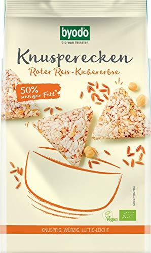 Byodo Bio Knusperecken Roter Reis-Kichererbse, 90 g (6 x 90 gr)