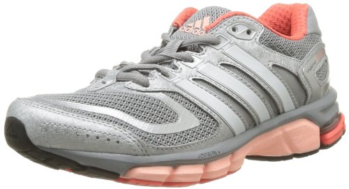 adidas Performance Response Cushion 22 W D67065 Damen Laufschuhe, Grau (Mid Grey S14 / Pearl Met. S14 / Glow Orange S14), EU 44 2/3 (UK 10)