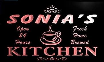 LED看板 ネオンプレート サイン 電飾 看板 カフェ バー pc284-r Sonia's Coffee Kitchen Neon Light Sign