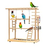 【Ideal Fun Bird Training Place】 Our Parrots stand provides a ideal place for your birds to play & sport, fun climb and rest, relieves boredom and increases activity level. Provide a comfortable play and training place for your bird friends. 【Premium ...