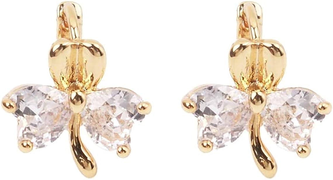 Custom Handmade 1 Pair Dainty 18kt Gold Filled Minimal Simple Lightweight Zircon Flower Petal Hoop Earrings Boutique Brands Wholesale Supply