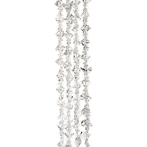 Kurt Adler D3773 Clear Ice Beads Garland, 6-Foot High, Plastic