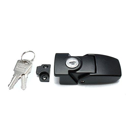 MJJEsports Zwarte Kasten Metaal Heldere Zink Legering Hasp Latch Lade Lock Tool 2 Keys
