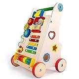 FASSTUREF Baby Walker Verhindern Rollover Multifunktionale Holz Stepper Spielzeugauto Kind Puzzle...