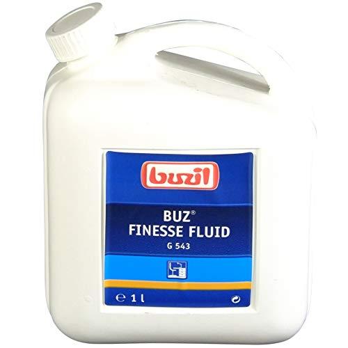 Buzil roestvrijstalen onderhoud, 1 liter, roestvrijstalen reiniger, metaalpolijstmiddel zoals chroomol glaskeramiek, spoelbak, afzuigkap messing pannenreiniger koelkast keramische kookplaat polijstmiddel conserveringsmiddel