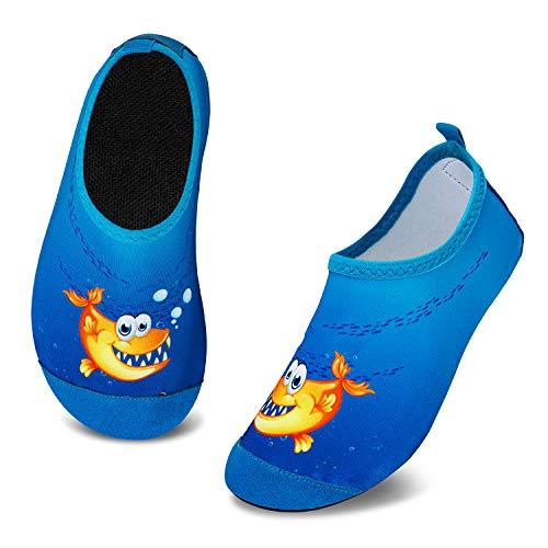 Escarpines de natación para niños, zapatos de agua, secado rápido, para la playa, para niños, niñas, bebés, piscina, color Azul, talla 26/27 EU