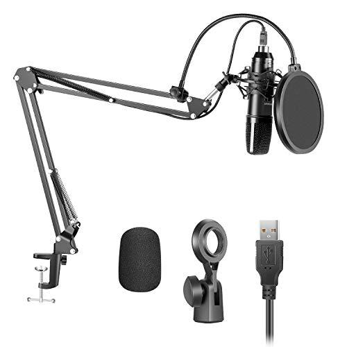 Neewer USB200 Kit Micrófono Condensador Cardioide Plug y Play de 192...