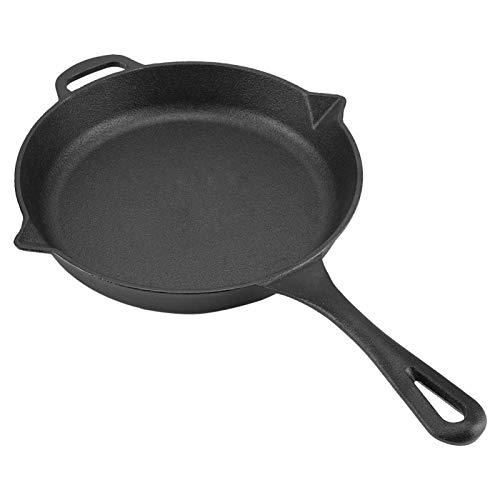 Sartén, sartén de hierro fundido construido, utensilios de cocina, para estufa de gas y cocina de inducción, 43 * 27 * 4 cm/16.93 * 10.63 * 1.57in