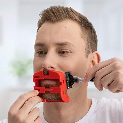 SleekGoatee Goatee Shaving Template & Lineup Tool   Fully Adjustable Beard Shaper & Shaving Guide for Men with Goatee   Shape, Trim, & Shave Van Dyke, Goatee, Circle Beard   Height & Width Adjustable