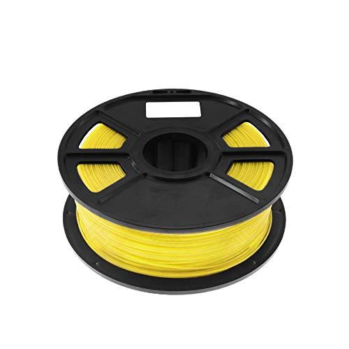 Kamenda Yellow 1Kg-Pla Filament 1.75Mm Plastic Rubber Consumables 3D Carbon Fiber 3D Filament 1.75 Filament D'Impressora 3D for