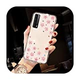 Sunflower Cases for Huawei P30 Lite P40 Pro P Smart 2021 Case Y6 Y7 2019 Clear Silicone Phone Case...