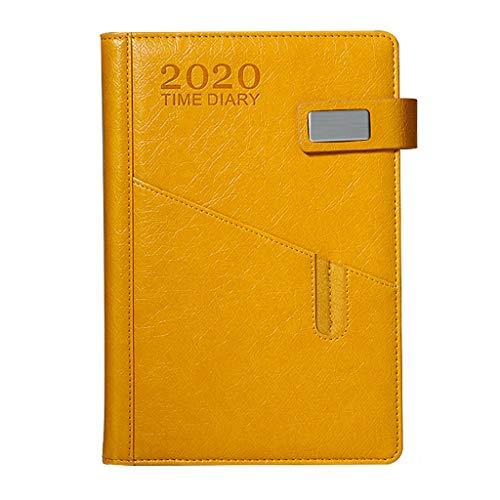 HF 2020 - Cuaderno de horarios, libro de autodisciplina, manual de gestión de línea de tiempo, cuaderno, cuaderno de notas de negocios, 400 páginas (color A7)