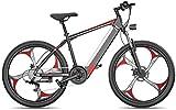 Bici electrica, Electric Bike Bicicletas 26 pulgadas Fat Tire bicicletas de montaña de la nieve de los hombres de doble freno de disco de aleación de aluminio for adultos y adolescentes, for los depor