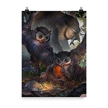 Baby Bestiary Owlbear Cubs Print