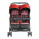 Piezas mecánicas Cochecitos de bebé gemelos Amortiguadores de cuatro ruedas que se pueden sentar con una sola mano Los asientos dobles ligeros pueden plegarse con una sola mano Se pueden plegar con