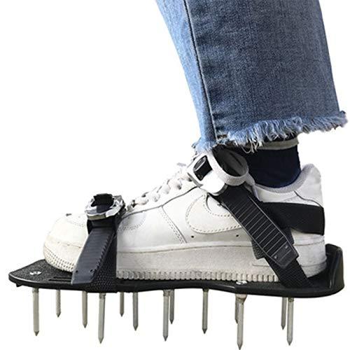 GCHH Zapatos Aireadores De Césped Zapatos con Suelas Escarificadoras - Suela De Zapato Escarificador con Talón Elevado para Sujeción Segura