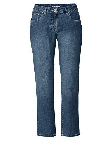 Dollywood Damen Slim Fit Jeans Emma Blau 52 Baumwolle