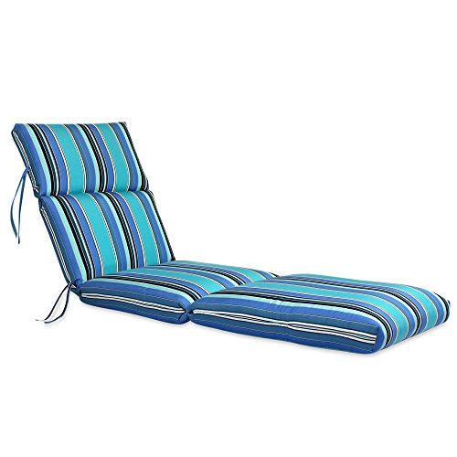 Comfort Classics Inc. 22W x 72L x 5H Hinge at 26' Sunbrella Outdoor CHANNELED Chaise Cushion in Dolce Oasis Made in USA.