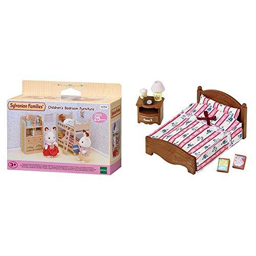 Sylvanian Families - 4254 - Muebles Habitación Niños + 5019 - Set Cama Doble