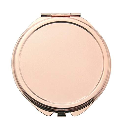 YZLSM Miroir Bourse Portable Rose d'or Miroir De Maquillage Compact De Poche Pliant Miroir pour Traveling, Camping-Petit Miroir De Maquillage Fard À Paupières Bourse Pliant Miroir De Poche